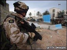 British soldier in Basra
