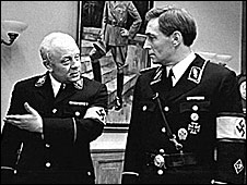 Mueller (left) and Stirlitz in a still from the Soviet TV film 17 Moments Of Spring