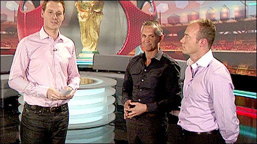 Dan Walker with Gary Lineker and Alan Shearer