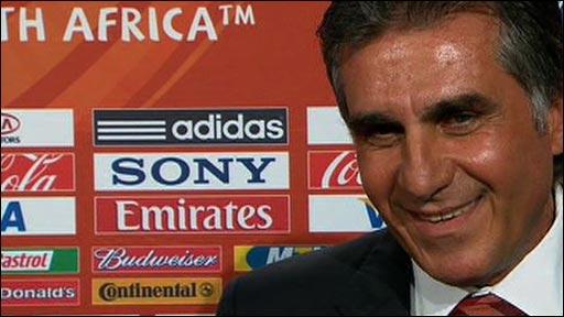 Portugal coach Carlos Queiroz