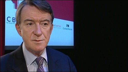 Business Secretary, Lord Mandelson