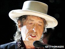 Bob Dylan performing in California, June 2009