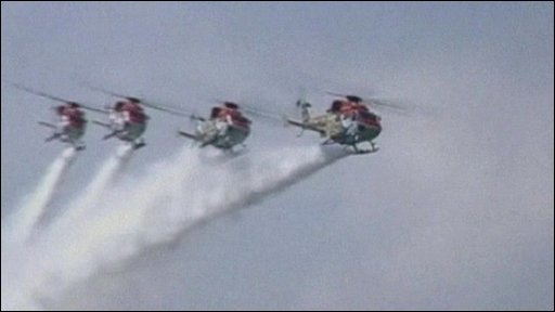 Indian Air Force's helicopter display team