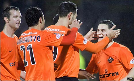 Craig Conway (right) scored United's second goal