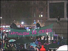 Climate camp in Trafalgar Square