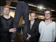 Jakob Ohlsson, Tor Rauden Kallstigen and Jacob Astrom of Noko Jeans
