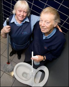 Toilet attendants at Manchester Airport