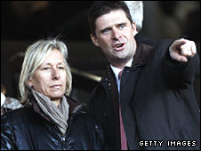Former tennis champion Martina Navratilova and Sunderland chairman Niall Quinn