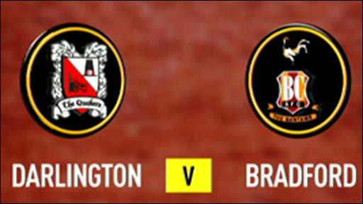 Darlington 0-1 Bradford City