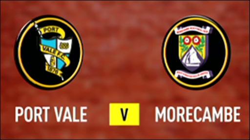 Port Vale 0-2 Morecambe