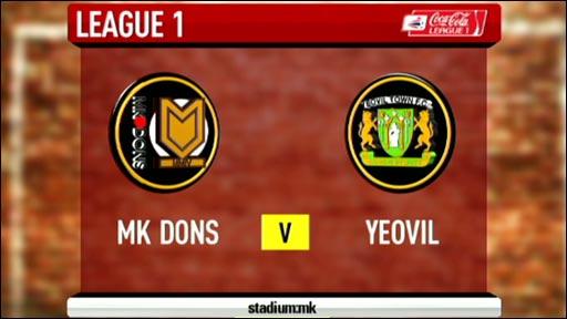 MK Dons 2-2 Yeovil