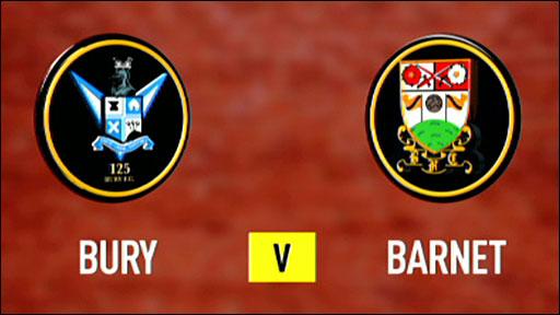 Bury 2-0 Barnet