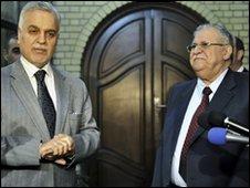 Vice-President Tareq al-Hashemi and President Jalal Talabani