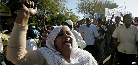Opposition supporters in Khartoum, 07/12