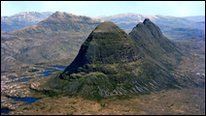 Suilven and Canisp inselbergs