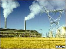 A coal power station in Mpumalanga