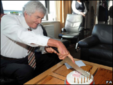 Rhodri Morgan celebrating his 70 birthday