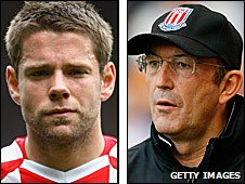 James Beattie and Tony Pulis