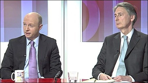 Liam Byrne and Philip Hammond