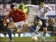 Joey Barton in his only senior england performance