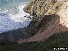 Landslide in Sark