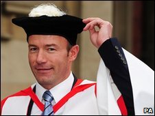 Alan Shearer at Newcastle University