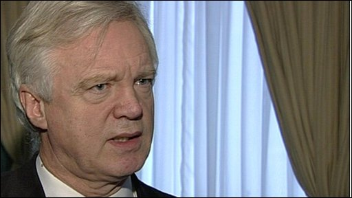 The former Shadow Home Secretary, David Davis