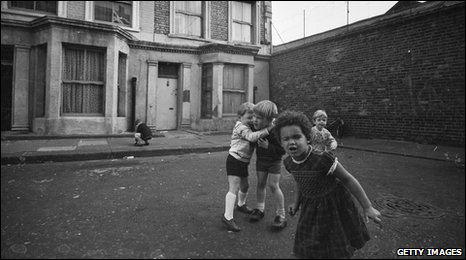 Children playing in the street 1960s