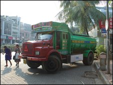 Water trucks in Mumbai