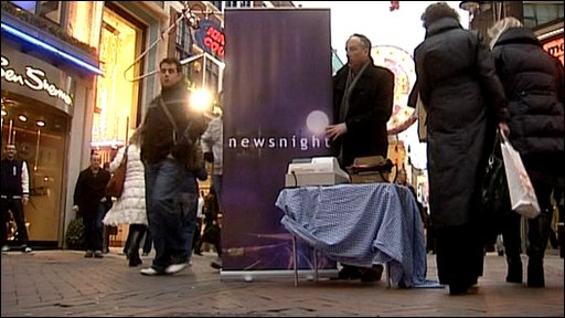 Newsnight 'pop-up shop'