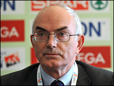 Athletics Ireland president and Event Director Liam Hennessy