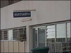 Mortuary sign, University of Nigeria Teaching Hospital