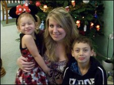 Rebecca with her niece and nephew