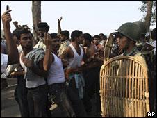 Protestors demanding separate Telangana state
