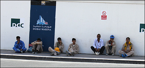 Migrant workers in Dubai. By Magdiabdel Hadi