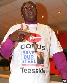 Archbishop of York at Corus steelworks