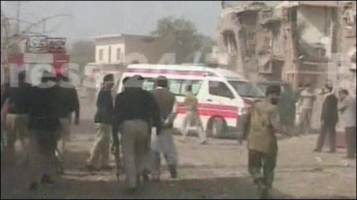 Ambulance on streets of Multan