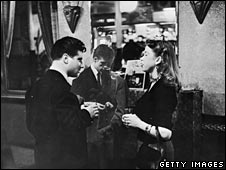 Couple in the pub in 1950s London