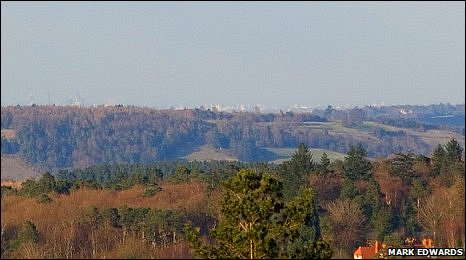 View from Hombury Hill