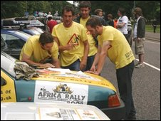 Competitors in last year's Africa Rally