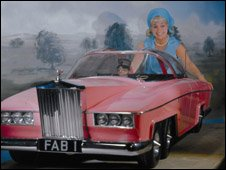 Sylvia Anderson and Thunderbirds car