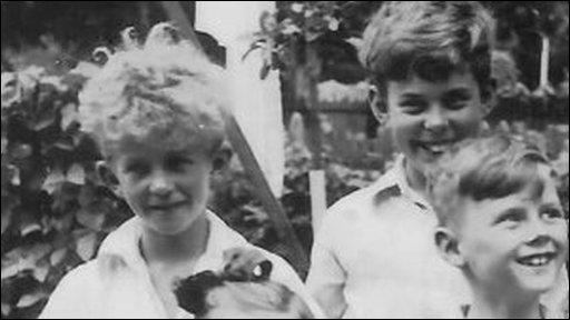 Rhodri Morgan [L] posing ina family photograph as a child