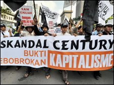 Protesters demanding inquiry into the Bank Century scandal - 6 December 2009