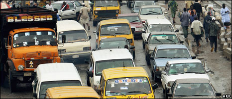 Traffic in Lagos, Nigeria