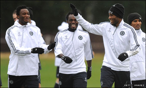 Mikel, Essien and Drogba