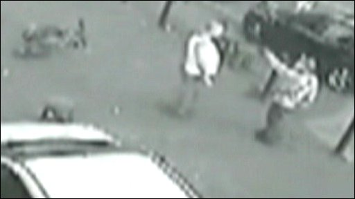 CCTV of gun incident