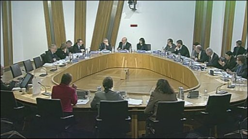 The justice committee in session