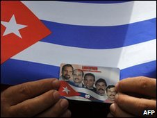 Supporter of the Cuban Five (file image)