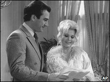 Anthony Herrera and Zsa Zsa Gabor in As The World Turns