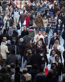 Crowded high street